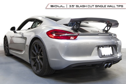 Silver Porsche Slash Cut Single Wall Install