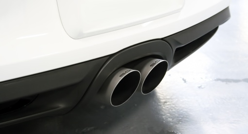 White Porsche 981 Valved Exhaust Brushed Tips Install