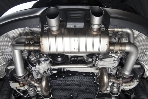 Porsche 991.2 Carrera (with PSE) Cat Bypass Pipes - Installed