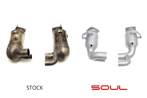 Soul Performance Products 991.2 Carrera (with PSE) Sport Catalytic Converters - Comparison