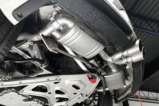 Porsche 981 Boxter Cayman Valved Exhaust Installed