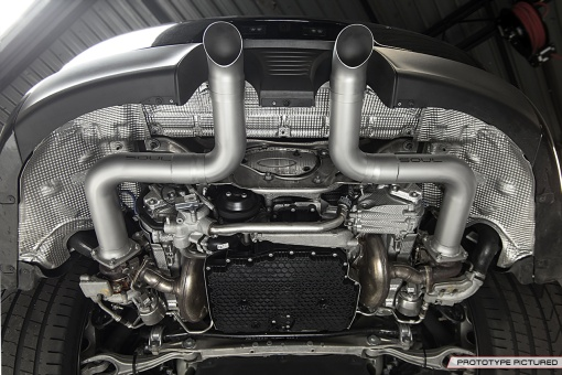 Porsche 991.2 Carrera Custom Trackback Exhaust - Underneath View