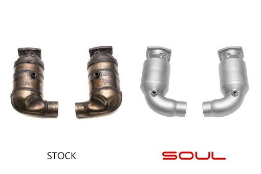 Soul Performance Products Porsche 991 Turbo Sport Catalytic Converters - Comparison