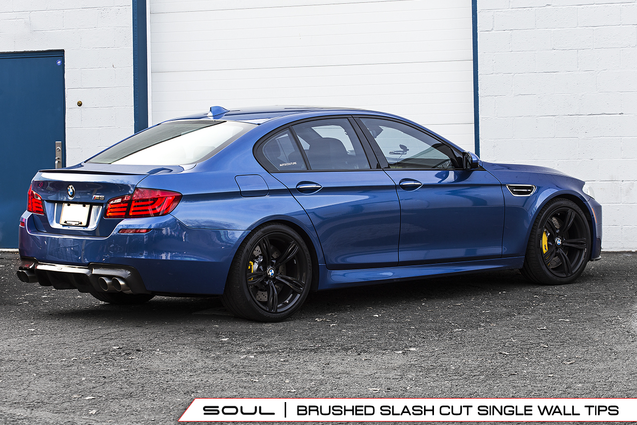 bmw f10 m5 resonated muffler bypass exhaust soul performance productssoul performance products. Black Bedroom Furniture Sets. Home Design Ideas