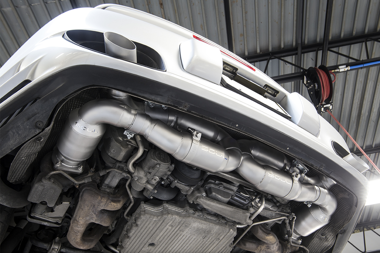 Porsche 997 2 Turbo Sport X Pipe Exhaust System Soul