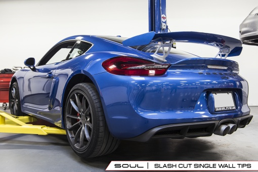 Porsche GT4 Valved Exhaust System - Slash Cut Tips Banner
