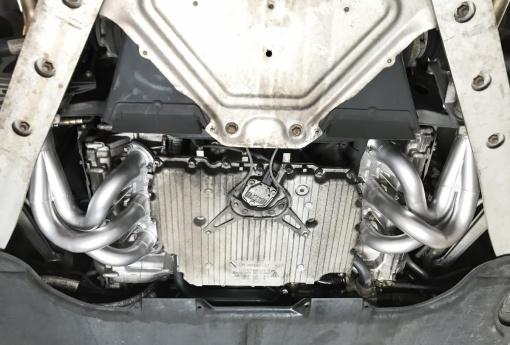 Porsche 987.2 Header Installed Underside