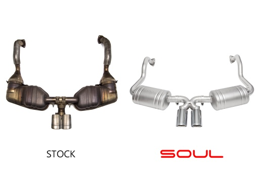 Porsche 987.1 Performance Exhaust System - Comparison