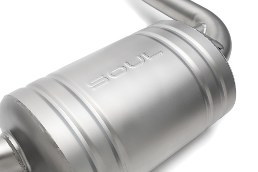 Porsche 987.1 Performance Exhaust System - Muffler Detail