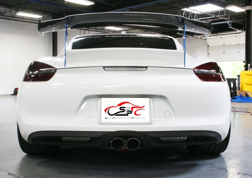 White Porsche 981 Valved Exhaust Install