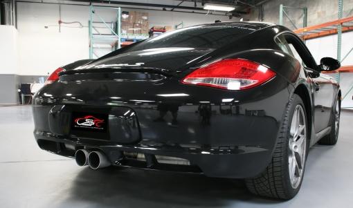 Black Porsche 987.2 Boxster Cayman Custom Valved Exhaust