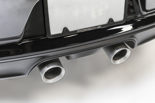 Porsche 991.2 Carrera Bolt On Tips - Dual Wall Close Up