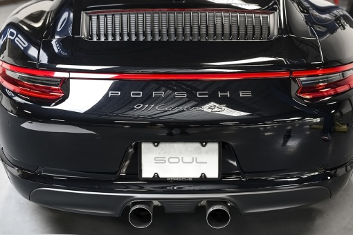 Porsche 991.2 Carrera Bolt On Tips - Straight Cut Installed