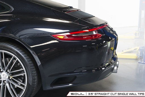 Porsche 991.2 Carrera Bolt On Tips - Straight Cut - Side View