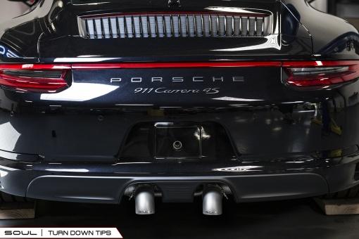 Porsche 991.2 Carrera Bolt On Tips - Turn Down Tips