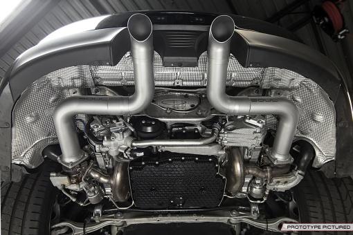 Porsche 991.2 Carrera Custom Trackback Exhaust - Underneath View
