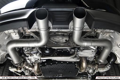 Porsche 991.2 Carrera Trackback Exhaust - Installed Slash Cut