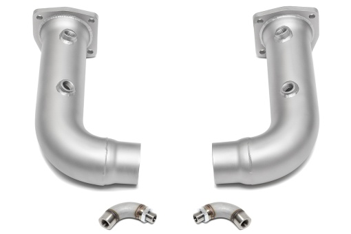 Turbo cat bypass pipes with 02 spacers for the Porsche 991 - Soul Performance Parts