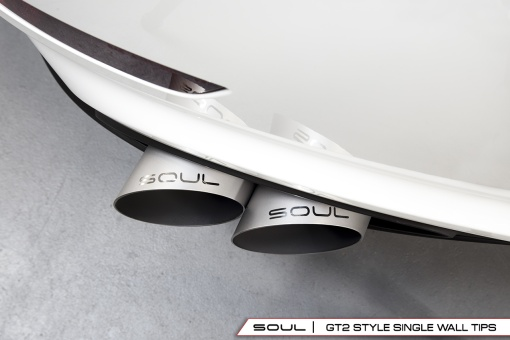 Soul Performance Products Porsche 991 Turbo Bolt On Tips - GT2 Style Single Wall Installed Overhead