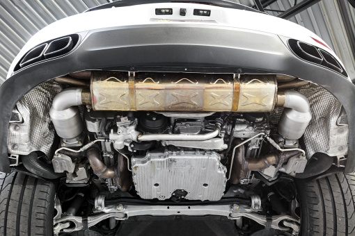 Soul Performance Products Porsche 991 Turbo Sport Catalytic Converters - Installed