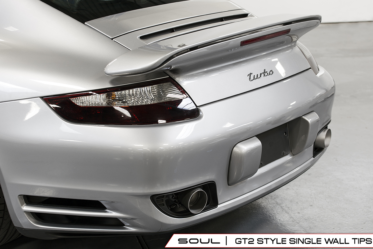 Porsche 997 1 Turbo Gt2 Style Bolt On Exhaust Tips Soul