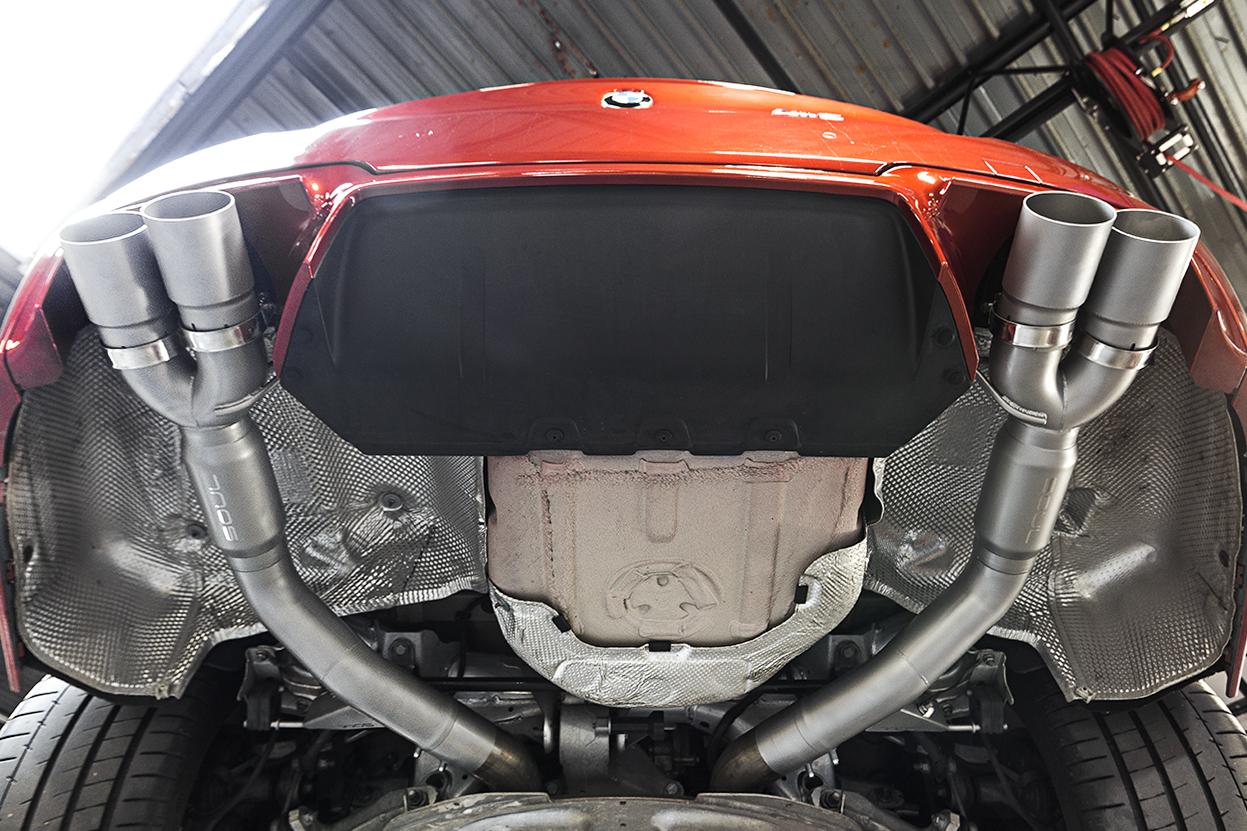 BMW F10 M5 Resonated Muffler Bypass Exhaust