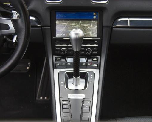 Agency Power Cup Slapstick Shifter Porsche PDK Shift Knob - Installed