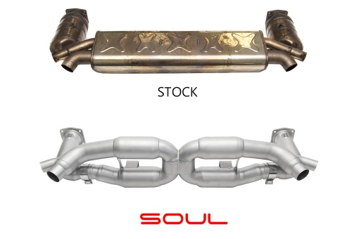 Soul Performance Products 991 Turbo Competition X-Pipe Exhaust System - Comparison