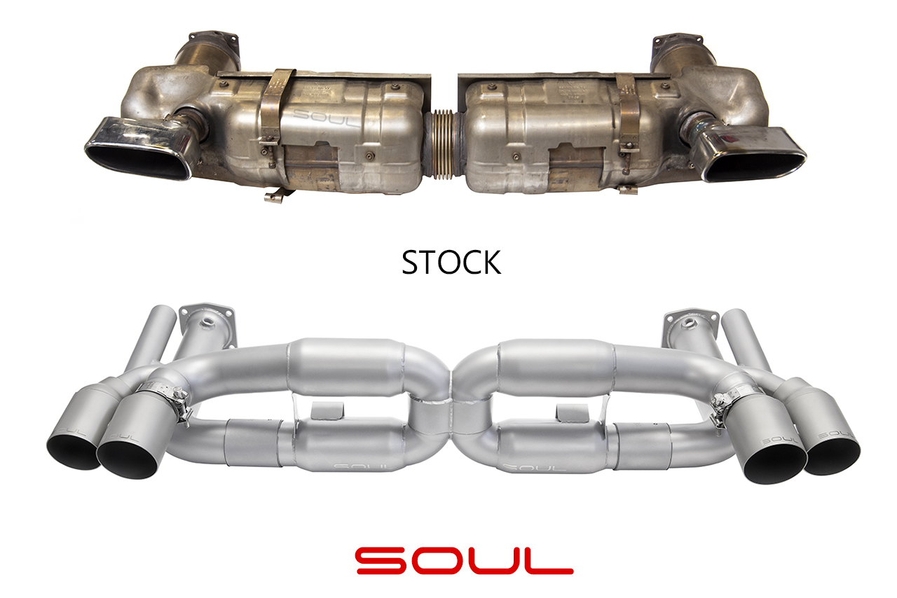 Porsche 997 1 Turbo Competition X-Pipe Exhaust System