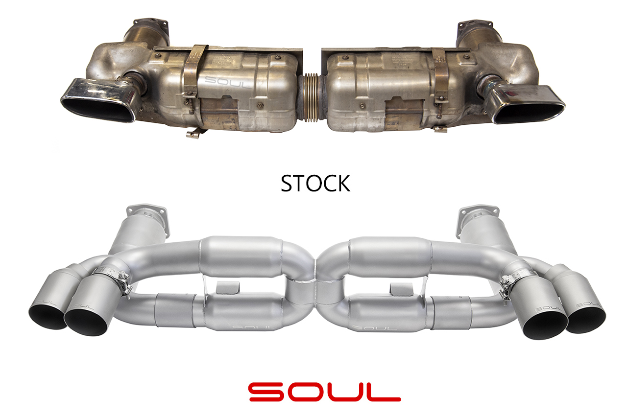 Porsche 997 1 Turbo Sport X Pipe Exhaust System Soul