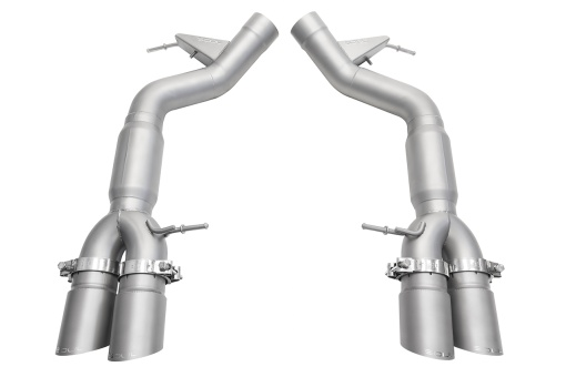 Soul Performance Products BMW M6 Muffler Bypass Exhaust - Product - Satin Slash Cut Single Wall Tips