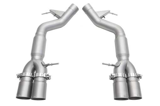 Soul Performance Products BMW M6 Muffler Bypass Exhaust - Product - Satin Straight Cut Single Wall Tips