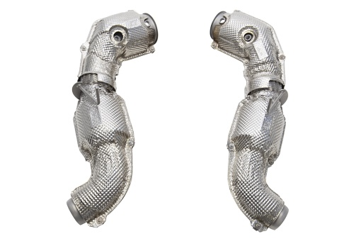Soul Performance Products McLaren Competition Downpipes - OEM Heatshields