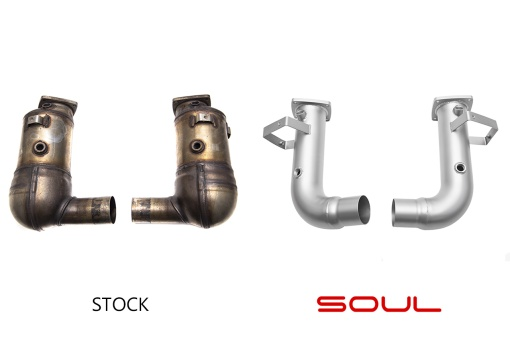 Porsche 991.2 Carrera Base (without PSE) Cat Bypass Pipes – Stock Comparison