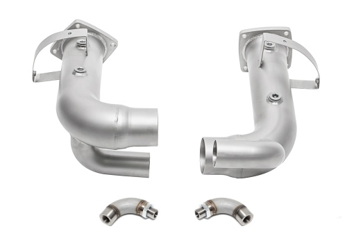 Porsche 991.2 Carrera Cat bypass pipes with 02 spacers, with PSE - Soul Performance Parts