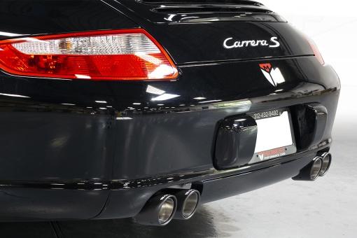 SOUL Porsche 997.1 Carrera Bolt On Tips - Carbon Fiber - Installed Side