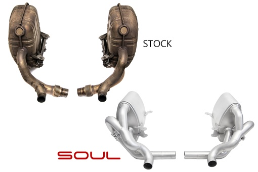 SOUL Porsche 997.1 Carrera Valved Exhaust - Comparison