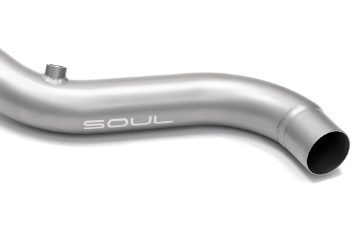 Soul Performance Products Range Rover Supercharged Cat Bypass Downpipes - Piping Detail