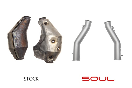 Soul Performance Products Lamborghini Gallardo Cat Bypass Pipes - Comparison