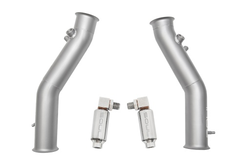 Soul Performance Products Lamborghini Gallardo Cat Bypass Pipes - Product With O2 Spacers