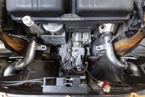 Soul Performance Products Lamborghini Gallardo Muffler Bypass - Installed Bay