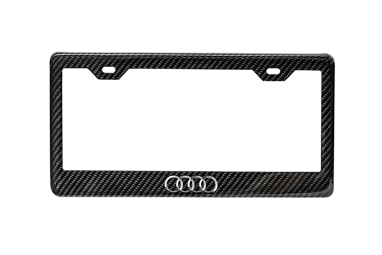 carbon fiber audi license plate frames