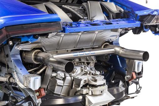 SOUL Lamborghini Huracan Performante Titanium Race Exhaust - Installed Side