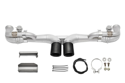 Modular competition exhaust package valved for a Porsche 997 GT3 - Soul Performance Parts
