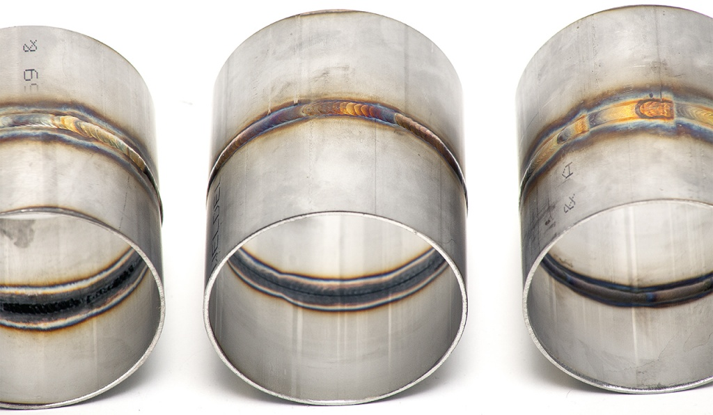 Welding details on three exhaust pipes - Soul Performance Parts
