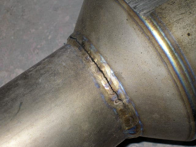 Welding detail on an exhaust part - Soul Performance Parts