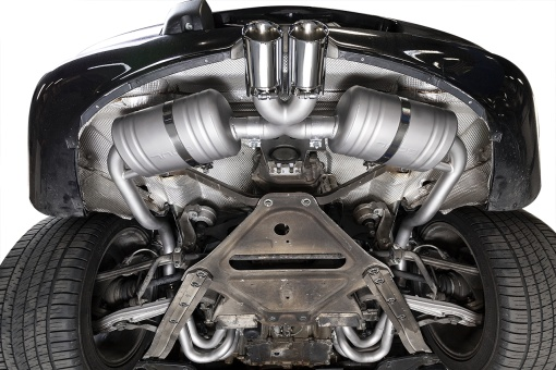 Installed competition exhaust package on the Porsche 986 Boxster - Soul Performance Parts