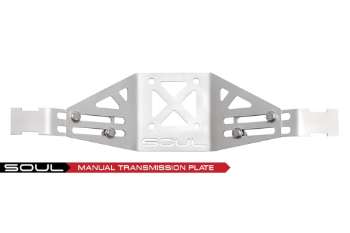 Manual trans plate on the Porsche 718 performance exhaust - Soul Performance Parts