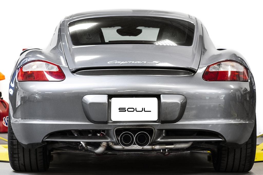 Rear shot of a Porsche 987.1 turbo build - Soul Performance Parts